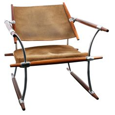 Jens Quistgaard Rosewood and Chrome Chair