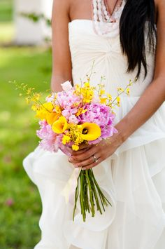 Modern Pink and Yellow Wedding Ideas