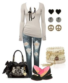 walking casual by karlibugg on Polyvore featuring polyvore fashion style Wet Seal Juicy Couture River Island Miso Sally Phillips clothing