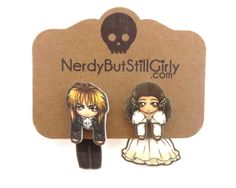 Goblin King and the Girl Cling Earrings Faux Gauges, Goblin King, Geek Out, Making Out, Illusions, Jewerly, Disney Characters, Fictional Characters, Geek Stuff