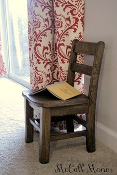 McCall Manor child's chair makeover