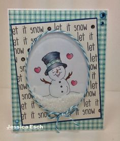 """""""Let it Snow"""" Shaker Card for December Challenge #2 w/Peachy Keen Stamps and The Alley Way Stamps"""