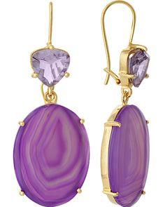 Isharya - Gemini Amethyst and Purple Druzy Earrings Lace Earrings, Drop Earrings, Isharya, Diamond Are A Girls Best Friend, Big Hair, Love Is All, Gemini, Amethyst, Bangles