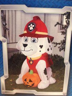Paw Patrol Marshall Puppy Dog w/ Pumpkin Gemmy LED Halloween Airblown Inflatable