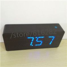 2016 new Modern Calendar Alarm Clocks ,Thermometer Wooden clocks,LED display Clock , Big numbers with digital clocks