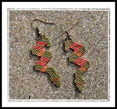 snake peyote earrings