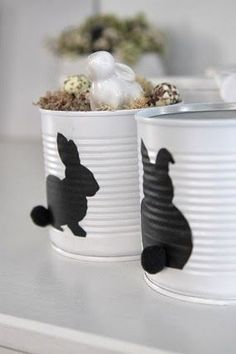 🌟Tante S!fr@ loves this📌🌟 Hoppy Easter, Easter Bunny, Easter Eggs, Tin Can Crafts, Diy And Crafts, Crafts For Kids, Tin Can Art, Cool Gifts For Kids, Diy Ostern