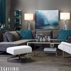 25 Turquoise Living Room Design Inspired By Beauty Of Water | Decor ...