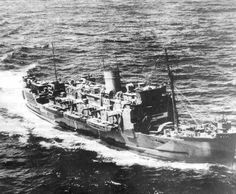 HMS Royal Ulsterman Ca 1943. Ulsterman, under the command of Captain Harry Houghton, carried the three survivors of HMS Hood (the British battlecruiser sunk by the German battleship Bismarck), back to the UK. On 29 August 1941, off the west coast of Scotland, Ulsterman was holed in a collision with the destroyer HMS St. Mary's, requiring repairs on the Mersey until late September.