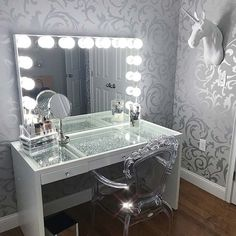 Makeup Vanity Set Bandcamp whenever Makeup Organizer Kitchen Stuff Plus. Makeup Vanity Table With Lighted Mirror Near Me Makeup Table Vanity, Vanity Room, Vanity Set, Vanity Ideas, Vanity Tables, Glass Vanity, Makeup Vanities, Teen Vanity, Vanity For Sale