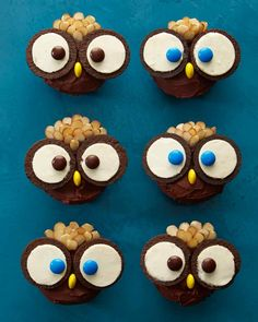 Owl Cupcakes for birthday parties, what a hoot!