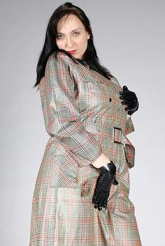37 Pvc Raincoat, Rain Wear, Color Stripes, Latex, Wrap Dress, Sexy, How To Wear, Kitty, Outfits