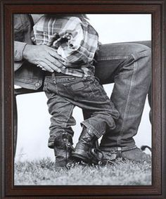 "Such a classic, wonderful picture! | David Stoecklein ""Afternoon with Grandpa"" #cowboy #littlecowboy #western"