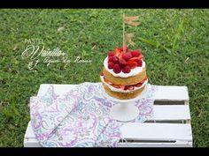 Cómo hacer Pastel de Vainilla y Agua de Rosas, 3 Aniversario
