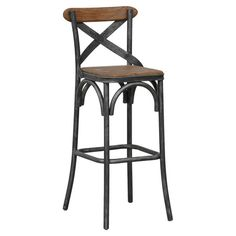 bentwood two tone bar stool