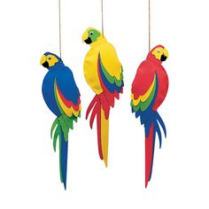 Whether throwing a Hawaiian beach bash for adults or kids beach party, step up your luau decorations with these colorful Jumbo Parrots. Rio Birthday Parties, Luau Birthday, Pirate Birthday, Fourth Birthday, Bird Party, Jungle Party, Pirate Party Decorations, Birthday Decorations, Hanging Decorations