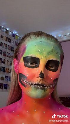 Cool Halloween Makeup, Scary Makeup, Sfx Makeup, Makeup Art, Cool Makeup Looks, Creative Makeup Looks, Cute Makeup, Skull Makeup Tutorial, Makeup Makeover