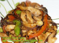 Chicken Stirfry with Black Fungus in Black Bean Sauce