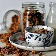 Start your day with a taste of autumn! Crunchy clusters of almond, fig and oats - much healthier and tastier than store bought granola