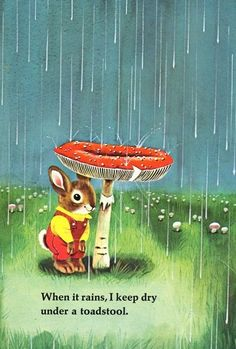 Amoebas Amoebas Everywhere! — Richard Scarry Illustration from 'I Am a Bunny'