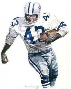 Don Perkins, Dallas Cowboys by Merv Corning