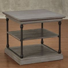 Distressed & Industrial Style End Tables | Hayneedle