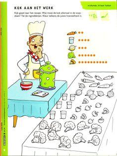 Voeding: Tellen Classroom Activities, Learning Activities, Preschool Food, Baby Learning, Cooking With Kids, Pre School, Diy For Kids, Homeschool, Kids Rugs