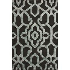 Hand-carved wool and art silk rug with a lattice motif.  Product: RugConstruction Material: Wool and art silkColor: GreyFeatures:  Made in IndiaHand-carved Note: Please be aware that actual colors may vary from those shown on your screen. Accent rugs may also not show the entire pattern that the corresponding area rugs have.Cleaning and Care: Spot treat with a mild detergent and water.  Professional cleaning is recommended if necessary.