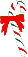 Candy Cane ChristmasClipArt for paper crafts, stickers, gift tags or greeting cards, clipartandcrafts.com