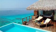 Coco Palm Bodu Hithi (Maldives) - Jetsetter. A Tiki Hut, with a private pool. UMMM, lets go now.