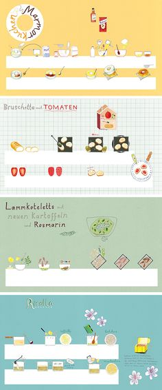 Food illustrations by Harriet Russell for 'The Silver Spoon for Children'