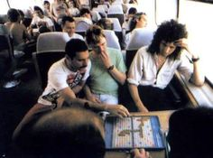 """In Bohemian Rhapsody, when they're on the tour bus through the Midwest, there's a quick shot of Freddie playing Scrabble. This is because Queen had a tradition of very serious """"Scrabble wars� during tours, as shown in the picture."""