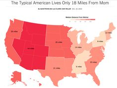 - The Typical American Lives Only 18 Miles From Mom.