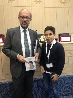 En la biblioteca nacional de Túnez junto al embajador de España