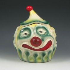 cookie jar | 258: McCoy Sad Clown Cookie Jar - Excellent : Lot 258