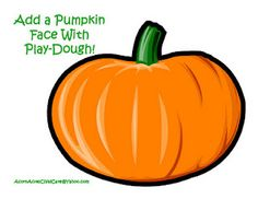 PUMPKINS: Storytime and more: Halloween Playdoh Mats-the link has a mat for spider and web and scarecrow, and a tree for bats, owl moon, etc Halloween Activities, Autumn Activities, Preschool Halloween, Indoor Activities, Kid Activities, Educational Activities, Halloween Pumpkins, Halloween Fun, Fall Preschool