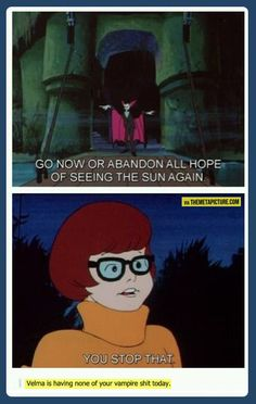 I love this post so much #Velma #Scooby I laughed so hard I'm creeping