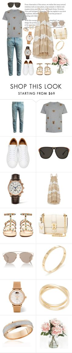 """Date;)))"" by alishaalisha ❤ liked on Polyvore featuring Gucci, Valentino, Marc Jacobs, Longines, Chloé, Christian Dior, Cartier, IWC Schaffhausen, Maison Margiela and Home Decorators Collection"