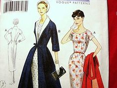 Vogue Vintage 50s Dress Pattern Womens by PatternsFromThePast, $18.50