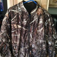 Camo Reversible Jacket Nwot- Reversible Camo/brown Jacket- bought at Cabelas and never worn Jackets & Coats Utility Jackets
