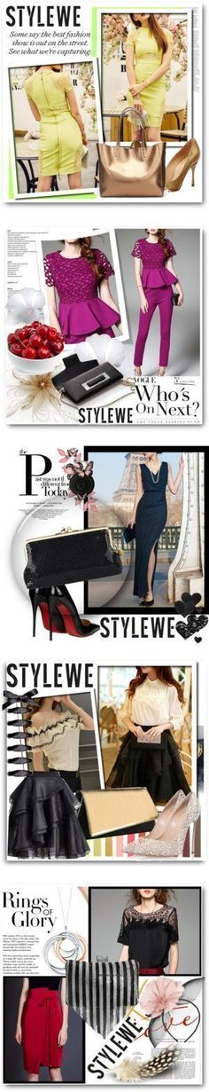 Stylewe collection by selmina on Polyvore featuring Sergio Rossi, outfit, dress… #sergiorossioutfit
