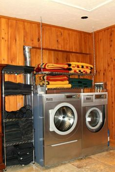 © Andrea Robbins: Kent Farrington Barn Tour 1  Dream barn laundry room