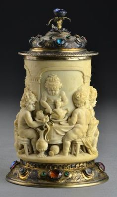 SOS - IVORY  NO. 1 --7.75 INCHES  -Midwest Auction Galleries, Inc.