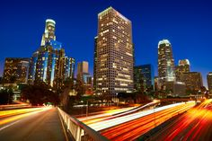 Rivers of Light - Downtown Los Angeles by Magnus Larsson, via 500px