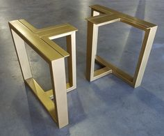 Set of Metal Table Legs by THEUrbanIronCraft on Etsy