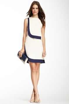 DVF Robi Two-Tone Dress