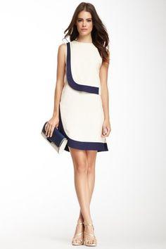 DVF Robi Two-Tone Dress