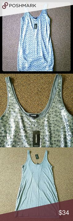 Express tank dress size m NWT sequined front. Express Dresses Mini