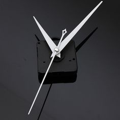 DIY White Triangle Hands Quartz Black Wall Clock Movement Mechanism