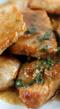 Pork Tenderloin with Marsala Sauce ~ They melt in your mouth and are absolutely delicious Pork Tenderloin Recipes, Pork Recipes, Cooking Recipes, Pork Chops, Cooking Pork, Pork Tenderloins, Cooking Games, Cooking Classes, Cooking Movies